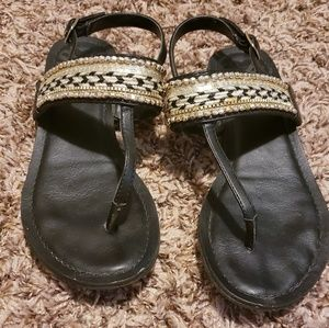 Fergalicious Black Sandals Size 6